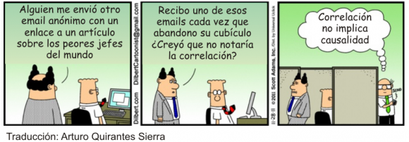 Correlación y causalidad Dilbert ESP