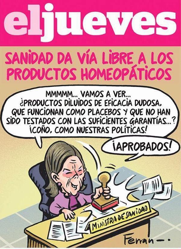 El jueves, sanidad y homeopatía