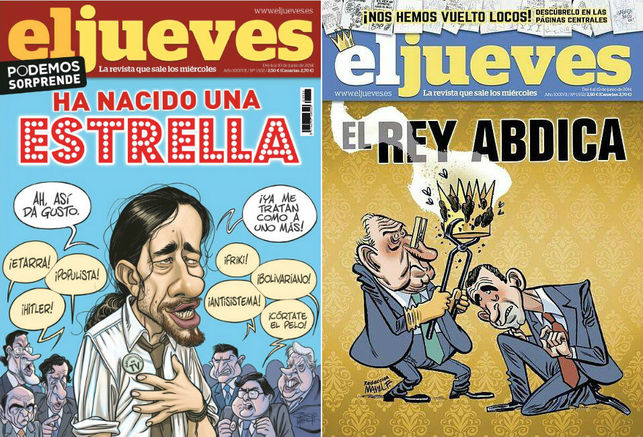 Censura del rey, en España