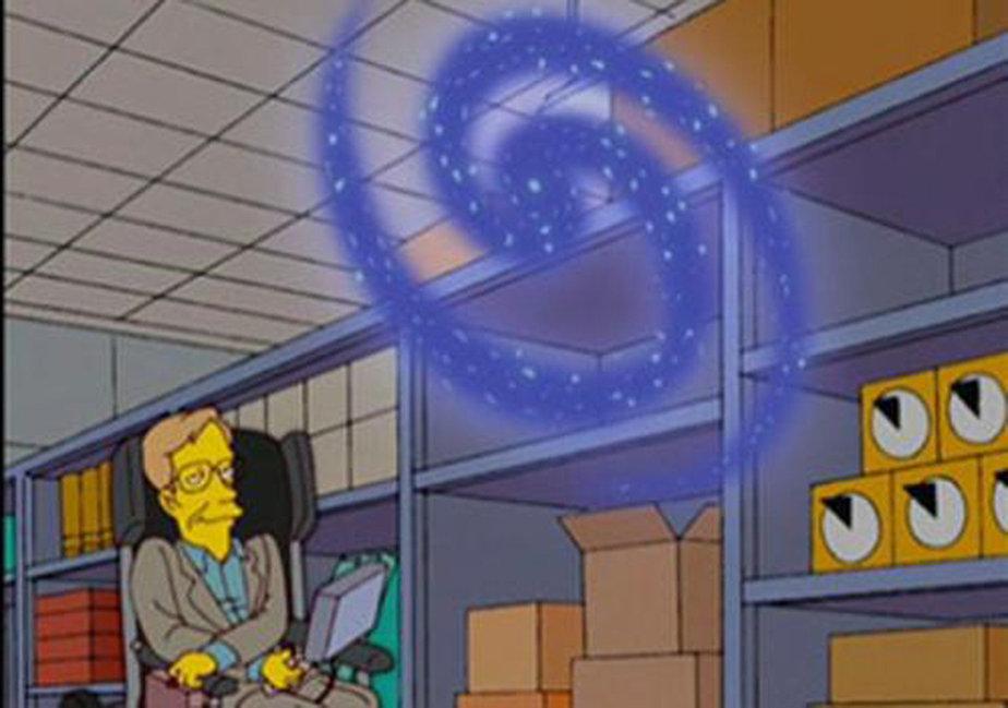 Hawking en los Simpsons