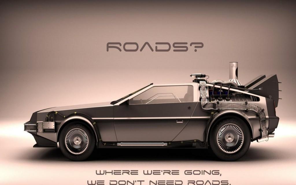 DeLorean no necesitamos carreteras